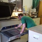 Inside look at the Western Sign Services photopolymer processor at work.