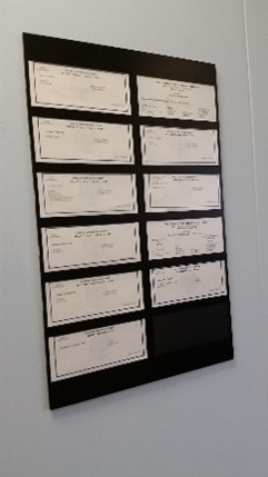 In Offices Where Licenses Are Required To Be Posted This Is An Example Of A License Board.