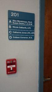 Multiple Interior Location Signage.